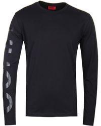 HUGO Demeos Black Long Sleeve T-shirt