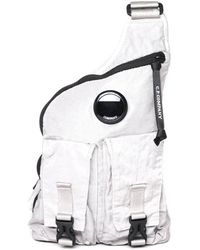 C P Company Stone Grey Lens Side Bag