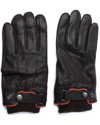 Armani Jeans - Brown Leather Gloves - Lyst
