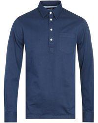 Norse Projects Oscar Indigo Half Placket Shirt - Blue