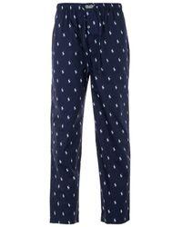 Polo Ralph Lauren All Over Pony Pyjama Trousers - Blue