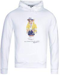 Polo Ralph Lauren Polo Bear White Pullover Hoodie