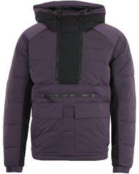 Columbia Kings Crest Purple Black Pullover Jacket