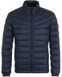 BOSS by Hugo Boss Water Repellent Lightweight Slim Fit Navy Down Jacket - Blue