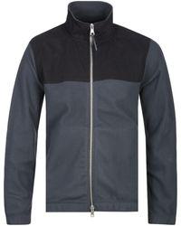 Albam - Sport Fleece Black & Grey Jacket - Lyst
