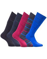 BOSS by Hugo Boss - Bodywear 5 Pack Gift Boxed Dark Coloured Socks - Lyst