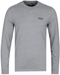 Barbour Grey Marl Long Sleeve T-shirt