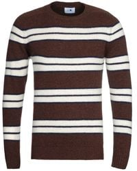 NN07 Nathan 6212 Brown Stripe Wool Jumper