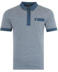 Farah Lloyd Modern Fit Jacquard Polo Shirt - Green