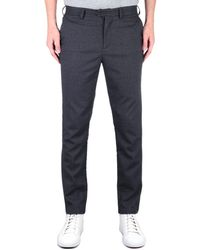 Fred Perry Tailored Fit Fine Check Charcoal Grey Trousers