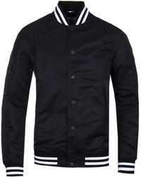 Reigning Champ - Black Embroidered Satin Stadium Jacket - Lyst