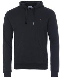 Farah Zain Organic Cotton Slim Fit Hooded Sweatshirt - Black