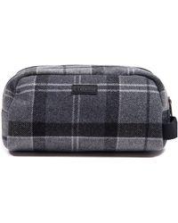 Barbour Classic Monochrome Tartan Washbag - Grey