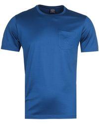 Paul & Shark Logo Pocket Blue T-shirt