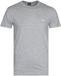 BOSS Green Boss Athleisure Tee Grey Marl Short Sleeve T-shirt