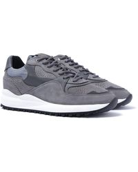 Android Homme Santa Monica Gray Stingray Suede Sneakers