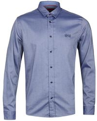 HUGO Evory-logo Dark Blue Shirt