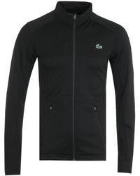Lacoste Sport X Novak Djokovic Croc Logo Zip Sweatshirt - Black