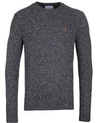 Farah - Creation Made In Italy Grey Marl Wool Jumper - Lyst