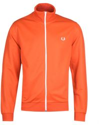 Fred Perry Taped Side Track Jacket - Orange