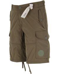 C P Company Ripstop Khaki Green Cargo Shorts
