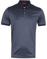 HUGO Doga Pima Cotton Blue Polo Shirt