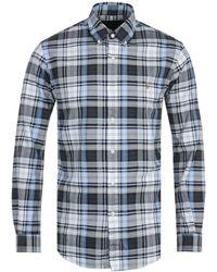 Polo Ralph Lauren Grey Custom Fit Check Shirt