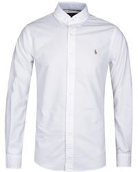 Polo Ralph Lauren Slim Fit White Oxford Shirt