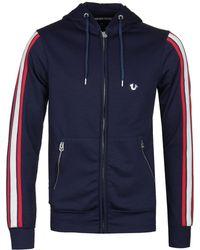True Religion - Active Navy Hooded Zip Jacket - Lyst