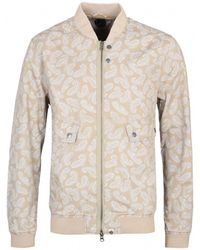 Pretty Green Forrester Sand Paisley Print Bomber Jacket - Natural