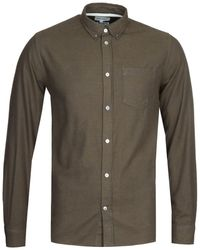 Norse Projects Anton Brushed Flannel Dark Green Shirt