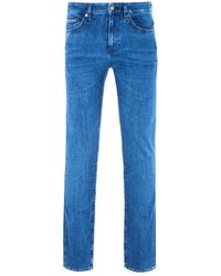 BOSS by Hugo Boss Delaware Cashmere Touch Blue Slim Fit Jeans