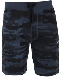 DIESEL - Umlb-pan Blue Digital Camo Short - Lyst