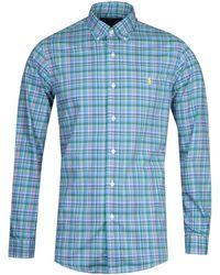 Polo Ralph Lauren Poplin Check Shirt - Blue