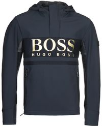 BOSS by Hugo Boss J Selvio Pullover Navy Jacket - Blue