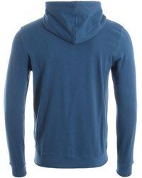 Barbour Reed Zip Through Hooded Sweatshirt - Blue