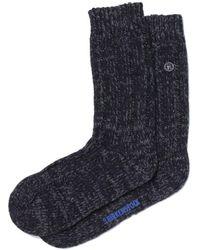 Birkenstock Tonal Black Cotton Twist Socks