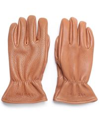 Red Wing Lined Nutmeg Leather Gloves - Brown