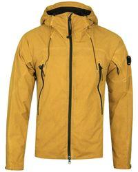 C P Company - Pro-tek Mustard Re-colour Hooded Lens Jacket - Lyst