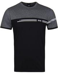 BOSS Athleisure - Tee11 Grey Colourblock T-shirt - Lyst