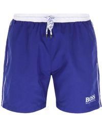 f82082b739 C P Company Royal Blue Drawstring Swim Trunks in Blue for Men - Lyst