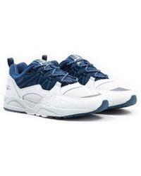 Karhu Fusion 2.0 White & Blue Wing Teal Sneakers