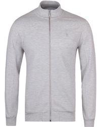 Original Penguin - Mirage Grey Heather Funnel Neck Sweatshirt - Lyst