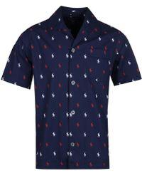 Polo Ralph Lauren Shorts & Shirt Navy Sleep Set - Blue