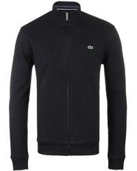 Lacoste - Zippered Stand-up Collar Fleece Zip Sweater - Lyst