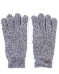 Barbour Carlton Fleece Lined Wool Gloves - Grey