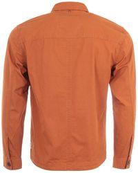 Pretty Green Connor Ripstop Overshirt - Orange