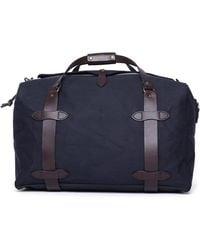 Filson Medium Navy Duffel Bag - Blue