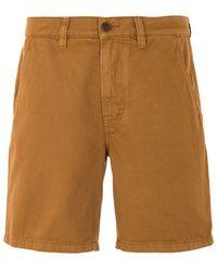 Nudie Jeans Luke Rigid Twill Worker Shorts - Brown