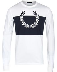 Fred Perry Snow White Blocked Laurel Wreath T-shirt